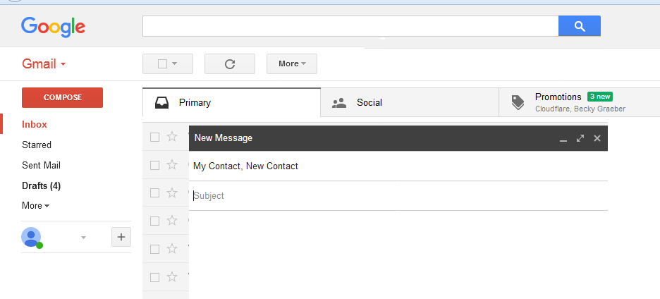compose email with label