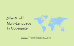 How To Add Multi-Language In CodeIgniter Dynamic