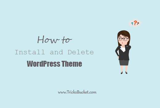 Install Delete WordPress Theme