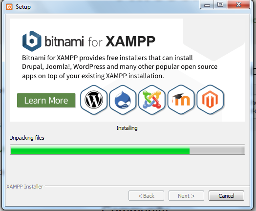 Download XAMPP's executable setup file for build a WordPress website offline