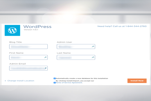 Fourth step how to install WordPress on Hostgator