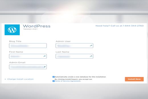 Fourth step how to install WordPress on Hostgator
