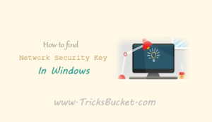 How to Find Network Security Key in