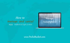 How To Cancel App Subscriptions On iOS