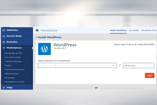Second step install WordPress on Hostgator