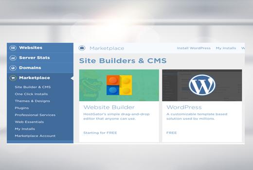 Third step install WordPress on Hostgator