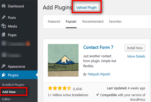 how to upload wordpress plugin