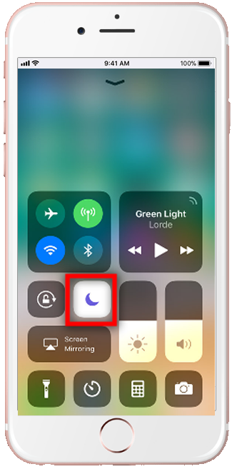 iPhone do not disturb Shortcut