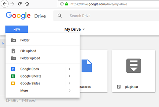 Share Google drive files on computer